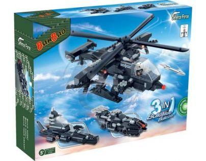 BanBao Armáda 8488 Vrtulník, vozidlo, vznášedlo 3 v 1
