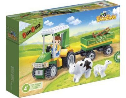 Banbao Farma 8586 Farmářský traktůrek s vlečkou