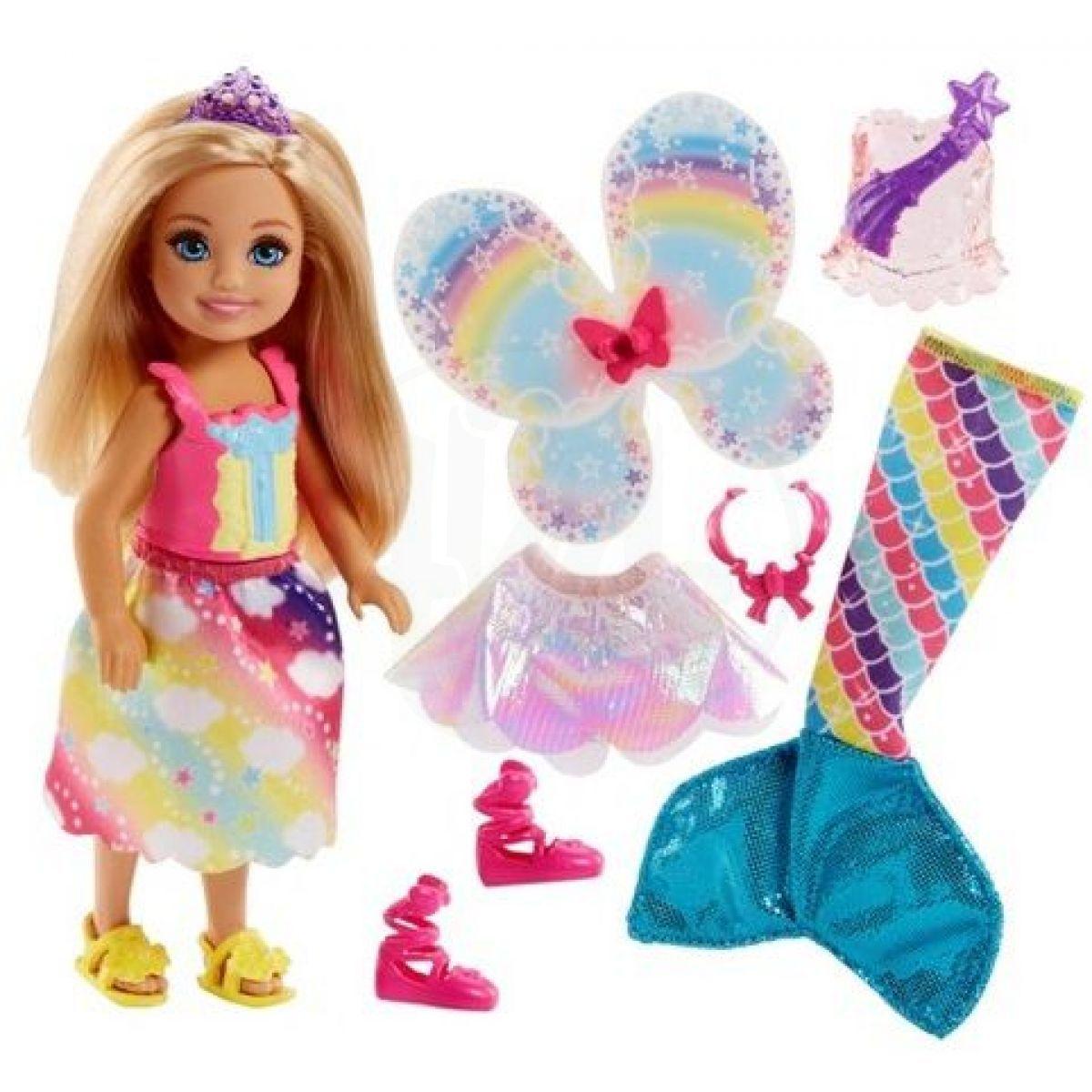 Mattel Barbie Panenka Chelsea pohádkové oblečky