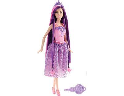 Barbie Dlouhovláska - Fialové vlasy - Poškozený obal
