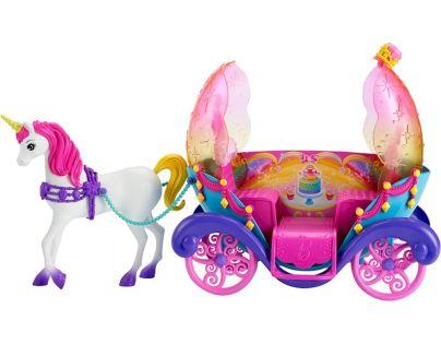 Barbie Duhový kočár s princeznou