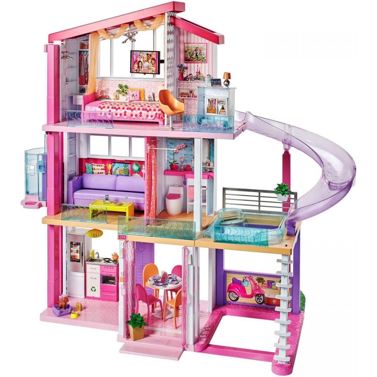 Mattel Barbie dům snů se skluzavkou BARBIE 0887961531282