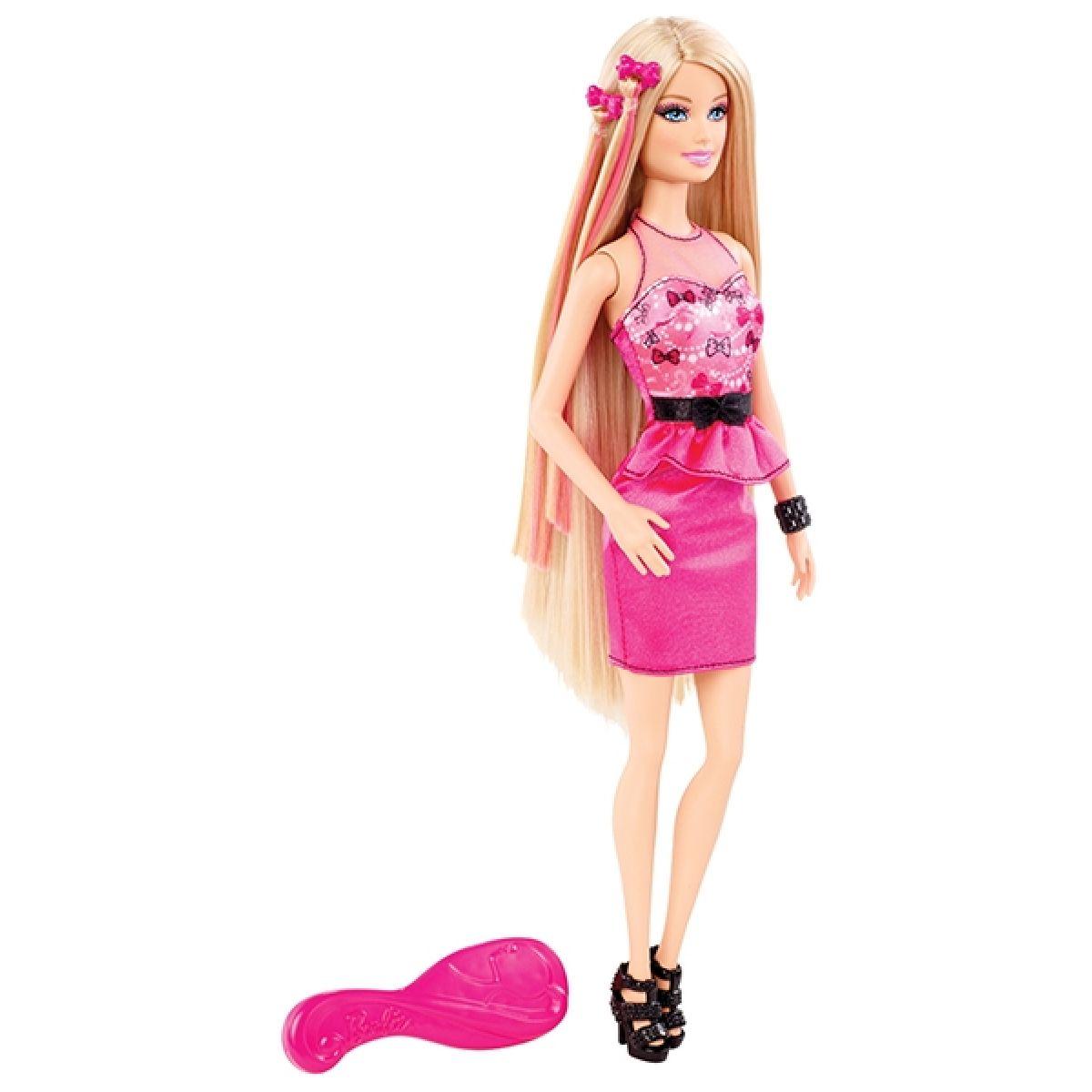 Barbie Fantastické vlasy - Barbie růžová