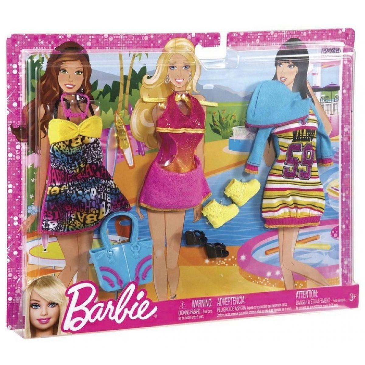 BARBIE N8322 Fashionistas Relax oblečky - X7856 Růžová