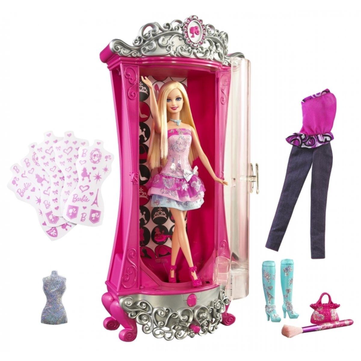MATTEL V1644 - Barbie Kouzelná šatna s panenkou (Kouzelný módní salón)