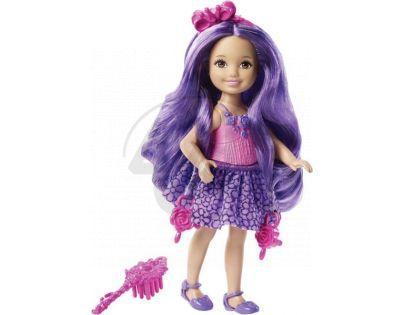 Barbie Malá dlouhovláska - Fialové vlasy