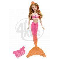 BARBIE BDB47 Mořská panna kamarádka - Hnědovláska růžová