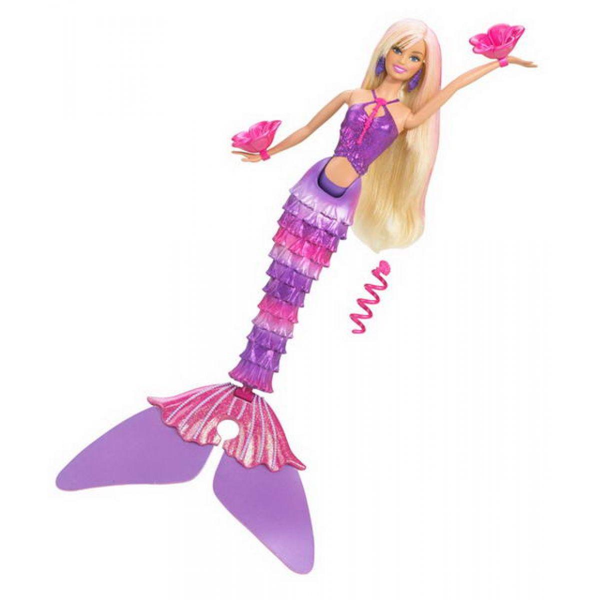 Mattel R4151_T1476 - Barbie Mořská tanečnice (růžová)
