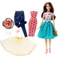 Barbie Panenka modelka a šaty - Bruneta