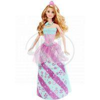 Barbie Panenka princezna - Tyrkysovo-růžové šaty
