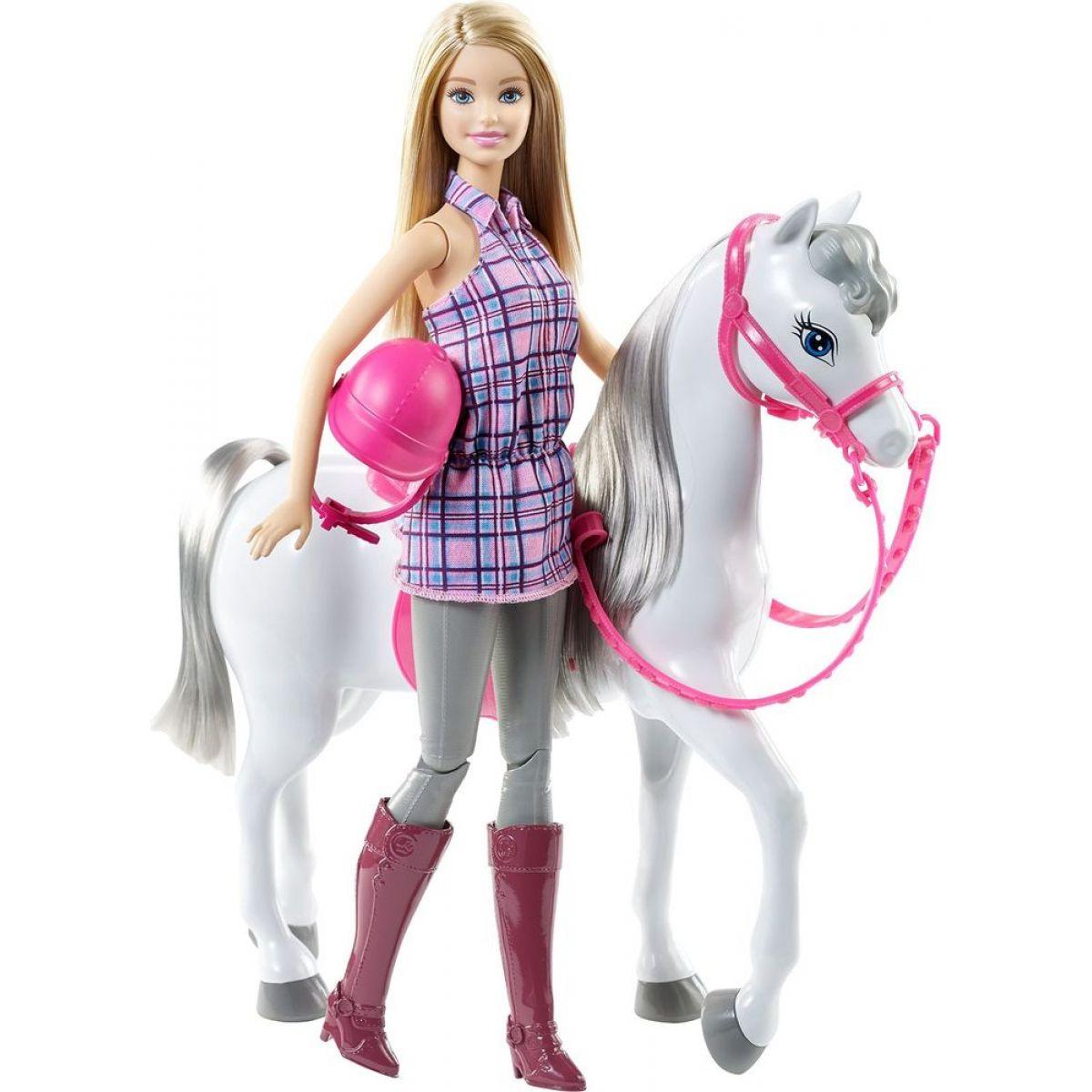 Mattel Barbie panenka s bílým koněm