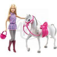 Mattel Barbie panenka s bílým koněm 2