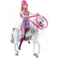 Mattel Barbie panenka s bílým koněm 3