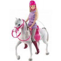Mattel Barbie panenka s bílým koněm 5