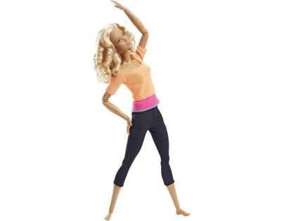 Barbie Panenka v pohybu - Oranžové triko
