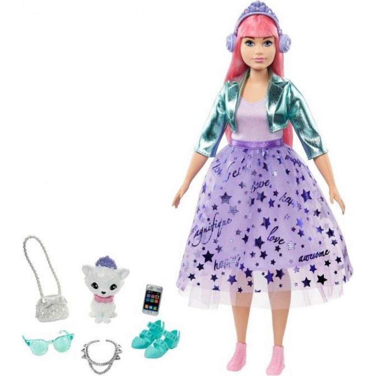 Barbie princezná GML75 fialová sukne
