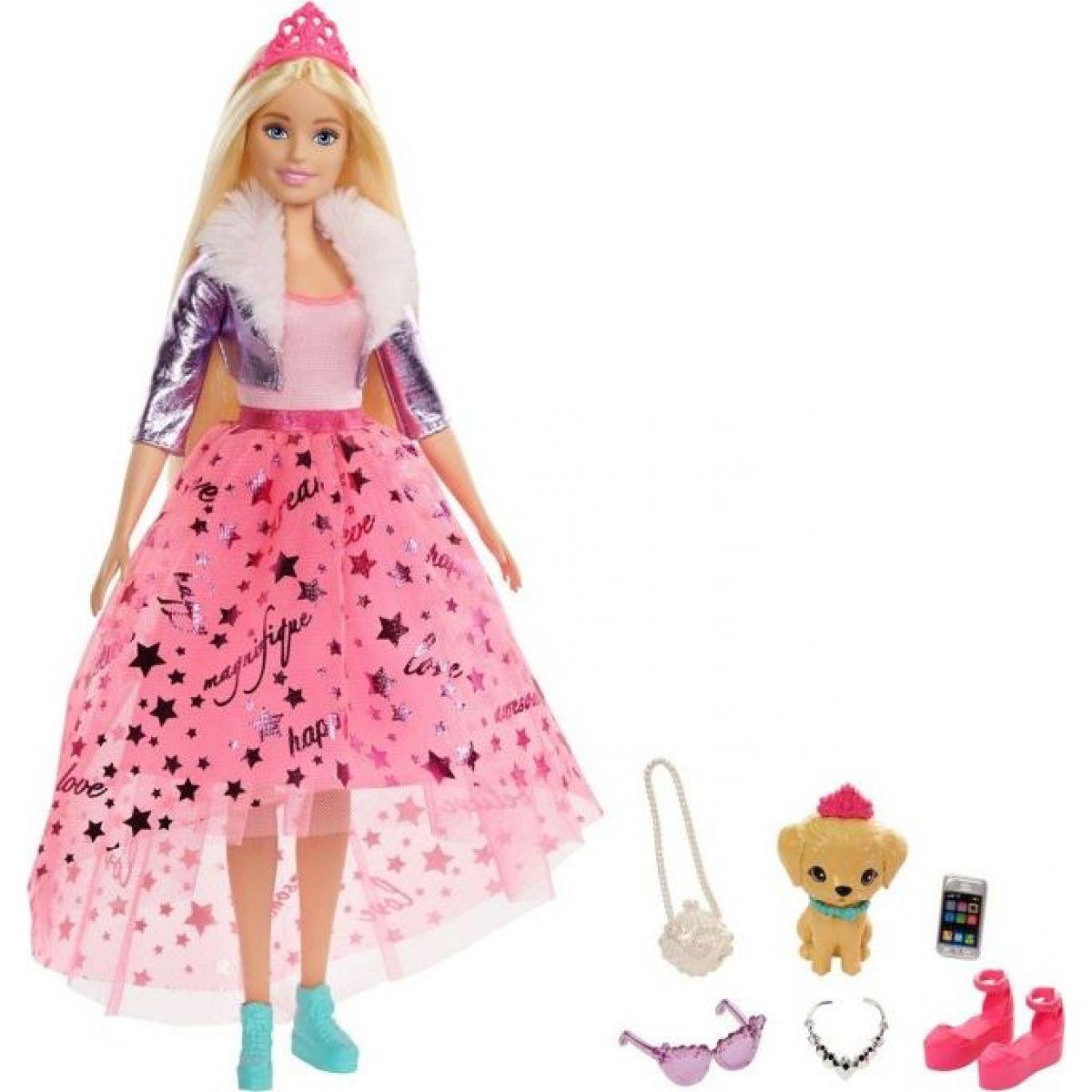 Barbie princezna GML75 růžová sukně