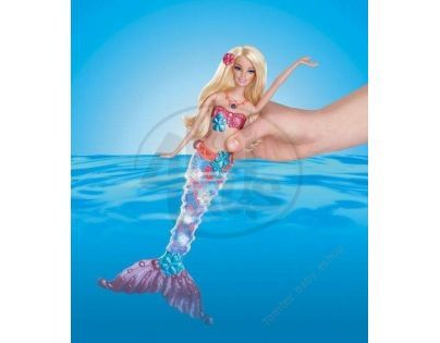 Barbie Svítící Mořská Panna - Brunetka 2015