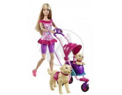 Barbie T7197 - Barbie Strollin Pups