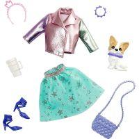 Barbie zvířátko a šaty s doplňky pejsek