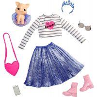 Barbie zvířátko a šaty s doplňky prasátko