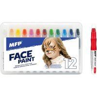 Barvy na obličej a tělo 12 ks v krabičce
