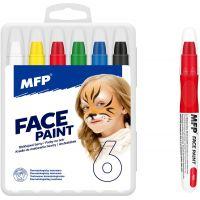 Farby na tvár a telo 6 ks v krabičke