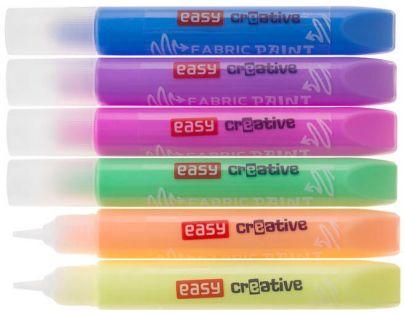 Spokey Barvy na textil 6 barev  10,5 ml