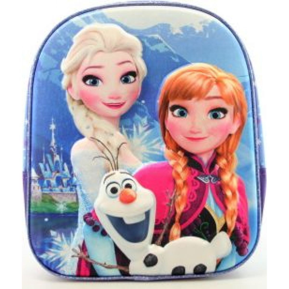 Star batoh Frozen Anna Elsa a Olaf 3D modrý