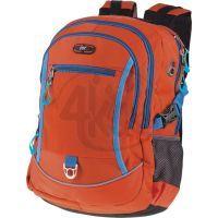 Easyoffice Batoh školní sportovní Oranžový s modrým lemem