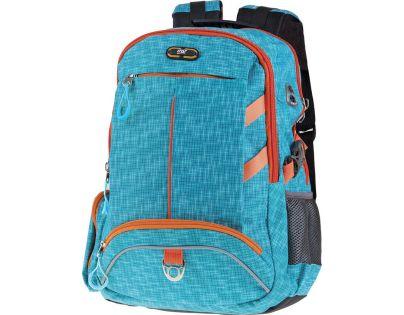 Easyoffice Batoh školní sportovní Modrý podklad s oranžovým lemem