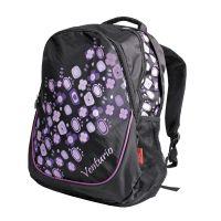 Batoh školní, volný čas fialovo-černý