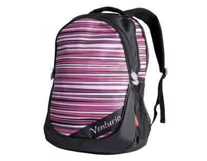 Batoh školní, volný čas růžovo-černý