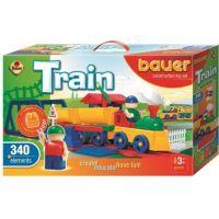 Stavebnice BAUER Train Vláčky 340 dílů 2