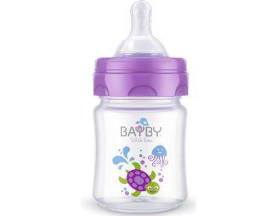 Bayby Kojenecká láhev 120 ml fialová