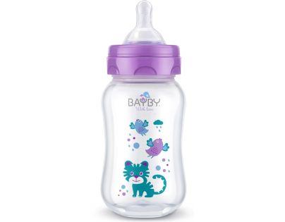 Bayby Kojenecká láhev 250 ml fialová