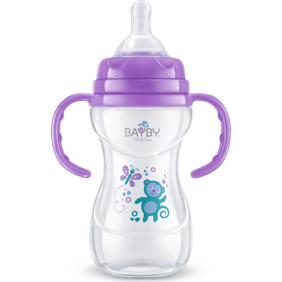 Bayby Kojenecká láhev fialová 240 ml od 6 měsíců