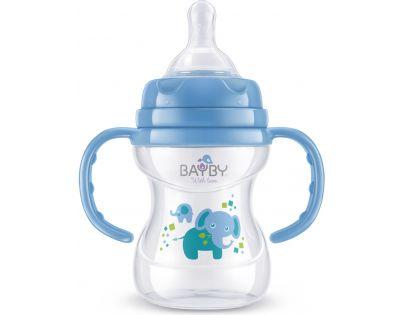 Bayby Kojenecká láhev modrá 150 ml od 6 měsíců