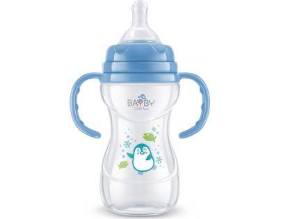Bayby Kojenecká láhev modrá 240 ml od 6 měsíců