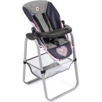 Bayer Chic Jídelní židlička a nosítko pro panenky šedá