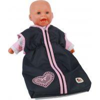 Bayer Chic Spací pytel pro panenku tmavý s růžovým lemem