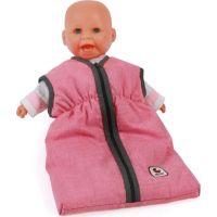 Bayer Chic Spací pytel pro panenku růžový s tmavým lemem