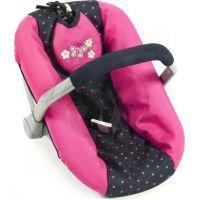 Bayer Chic Autosedačka pro panenky - Dots Navy Pink