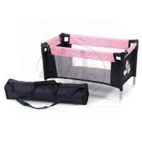 BAYER CHIC 2000 - 65246 - Cestovní postýlka pro panenky - Pink Checker