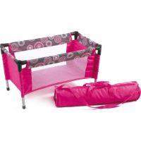 Bayer Chic Cestovní postýlka - Hot pink pearls 2