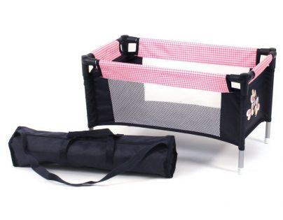 Bayer Chic Cestovní postýlka - pink checker - Poškozený obal