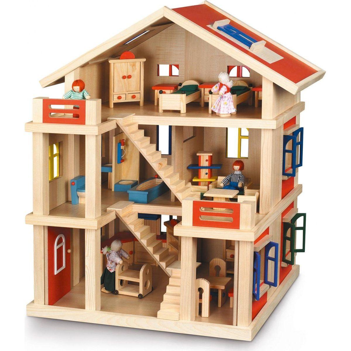 Bayer Chic Domeček dřevo 3 podlažní