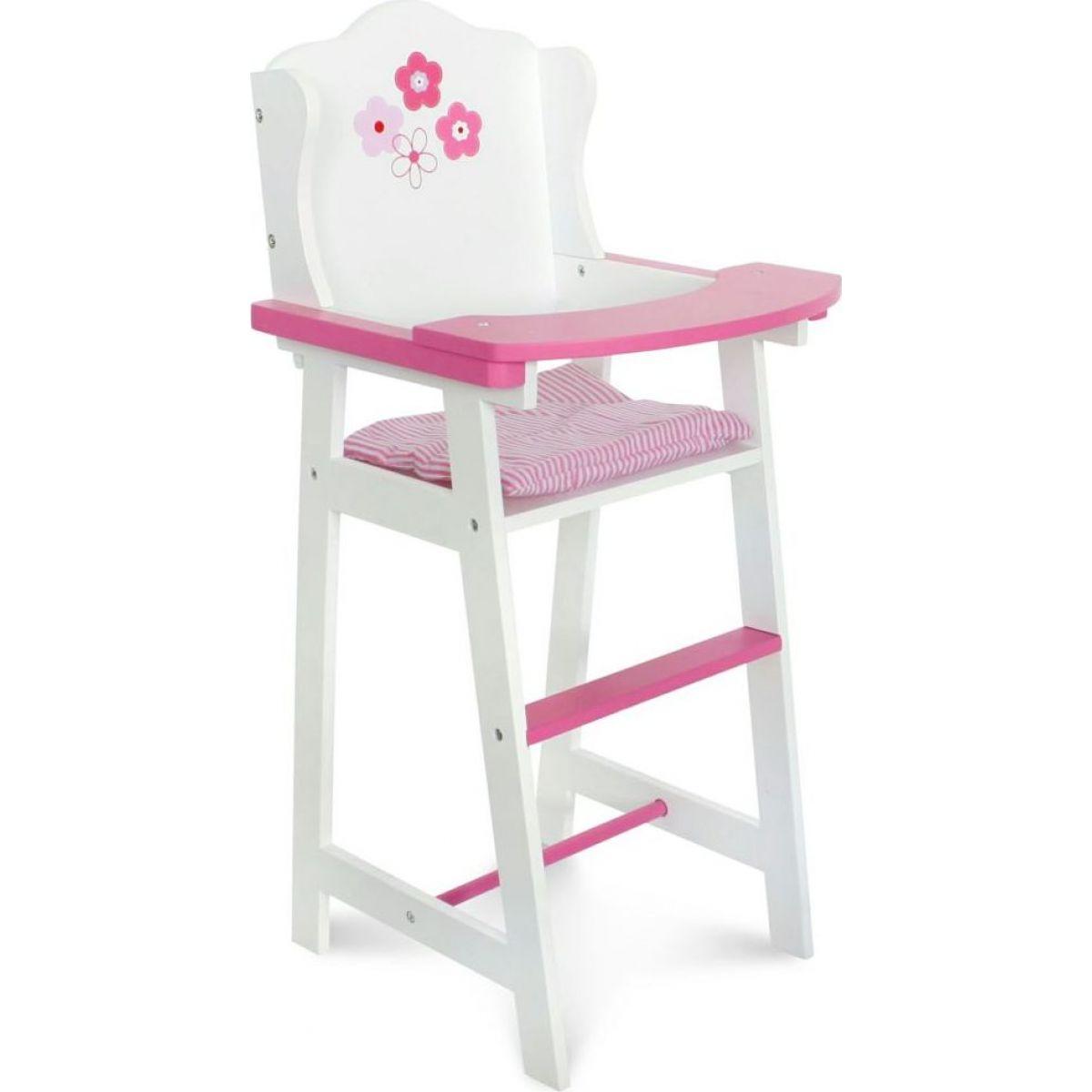 Bayer Chic Jídelní židlička bílá s kytkou