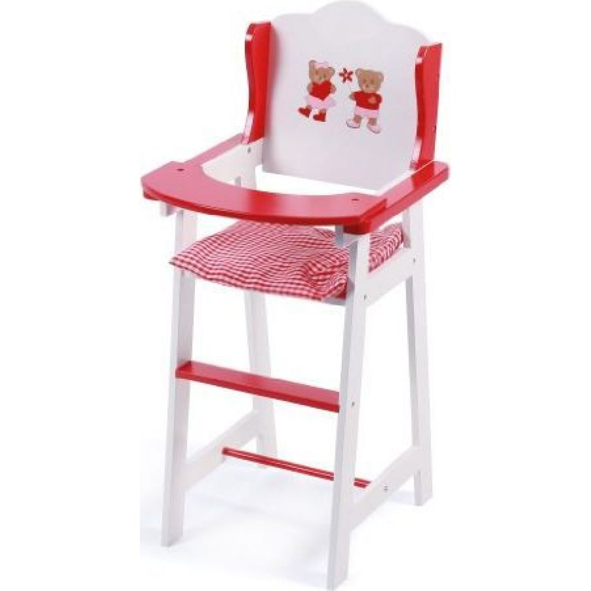Bayer Chic Jídelní židlička bílá s medvídkem