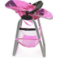 Bayer Chic Jídelní židlička pro panenku - Dots purple pink 2